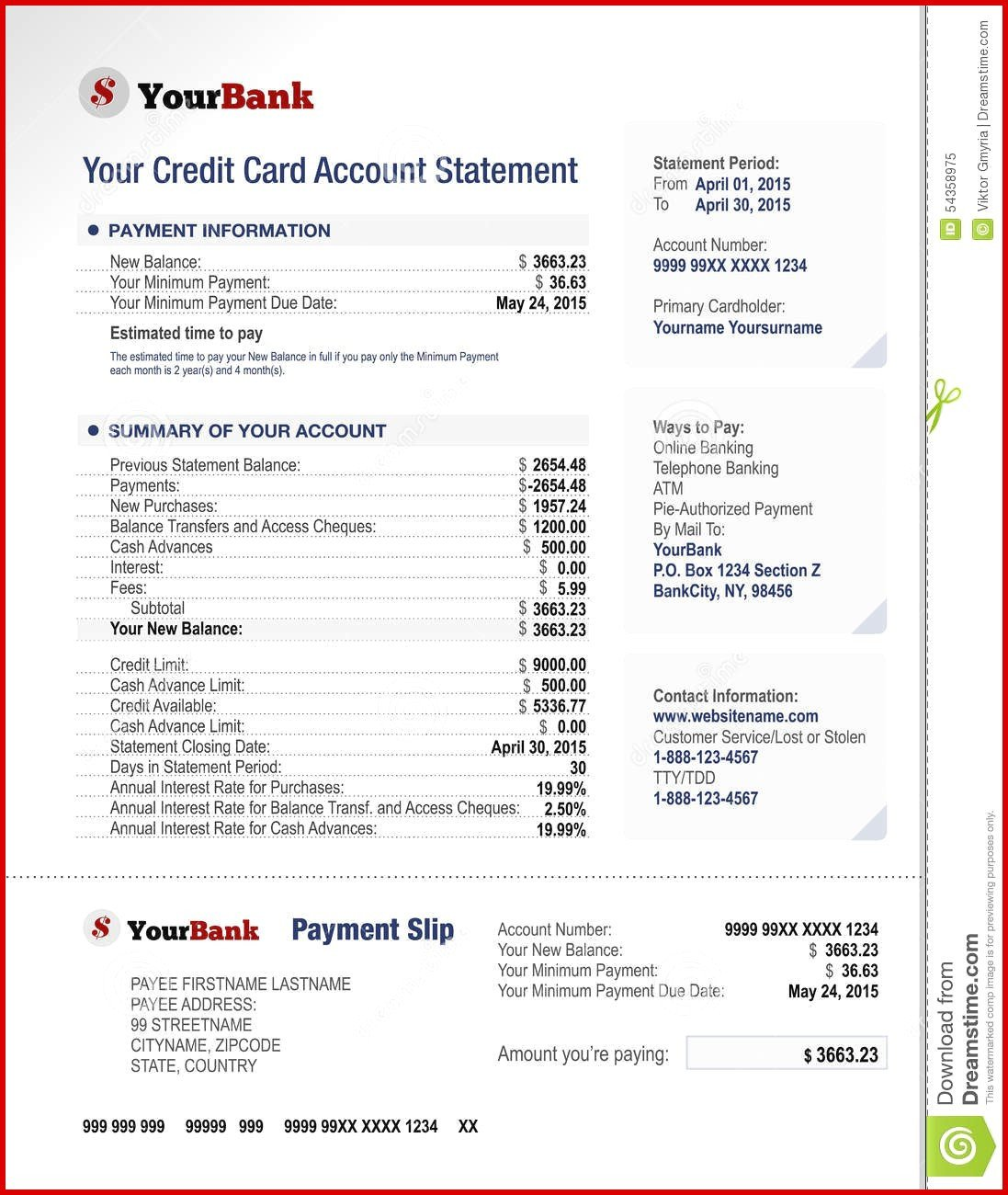 Create Fake Bank Statement Template Fake Bank Account Statement Creator