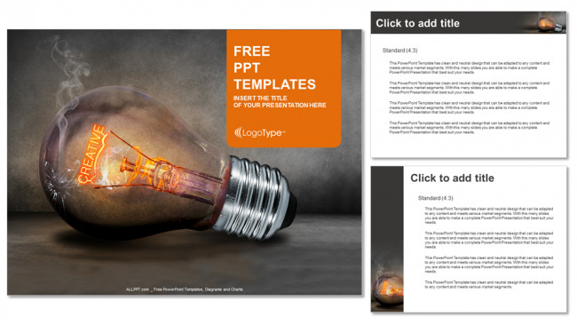 Creative Powerpoint Templates Free Creative Bulb Business Powerpoint Templates