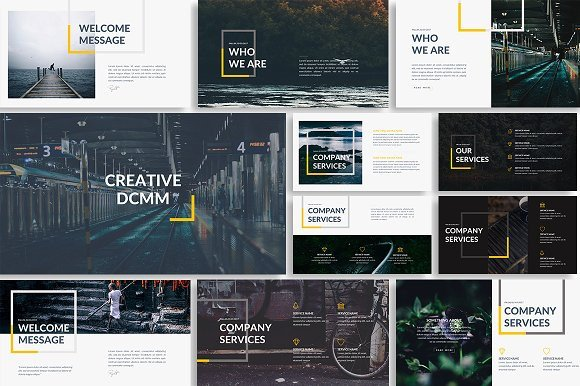Creative Powerpoint Templates Free Dcmm Creative Powerpoint Template Presentation