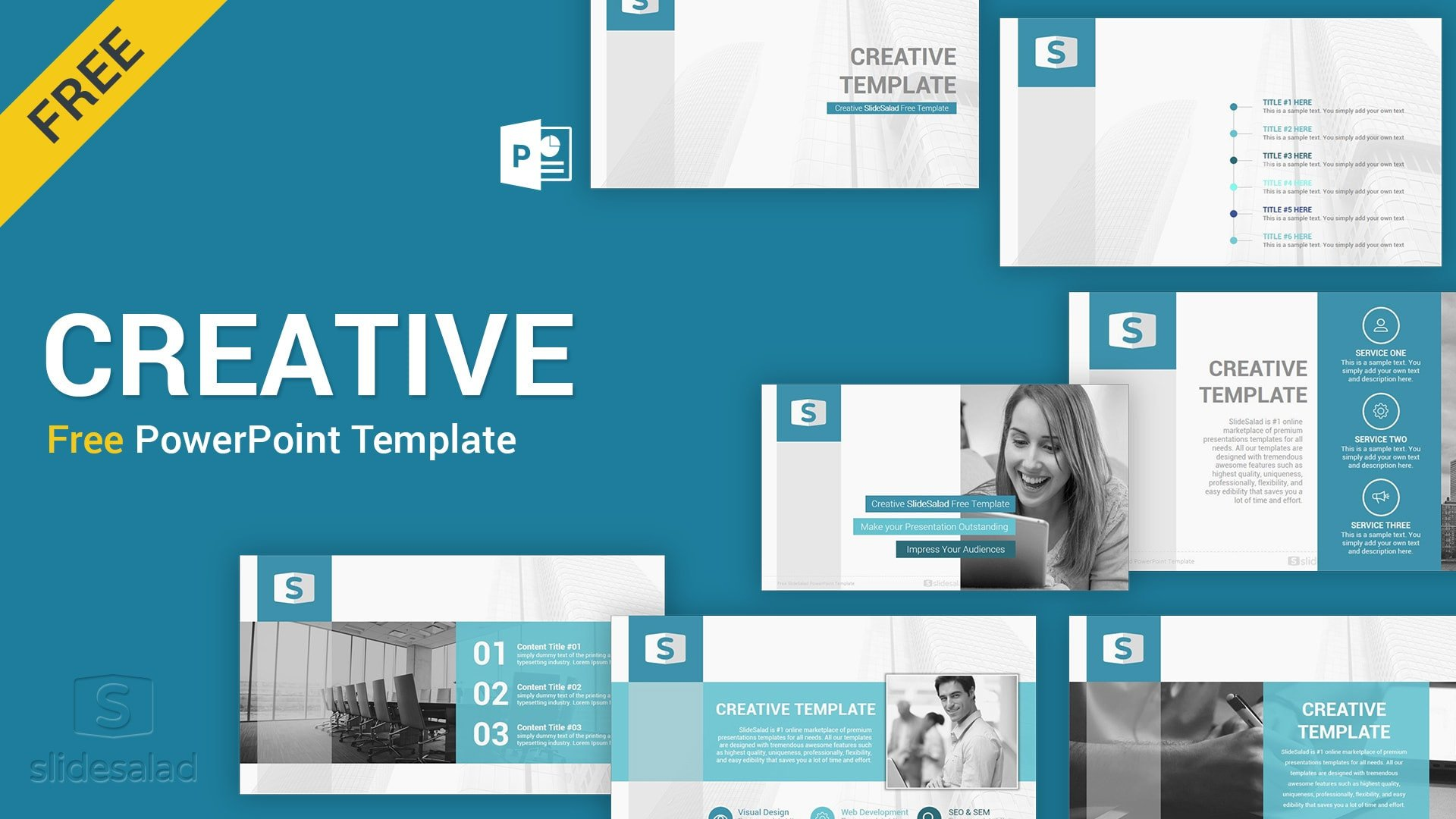 Creative Powerpoint Templates Free Download Creative Free Download Powerpoint Template Slidesalad