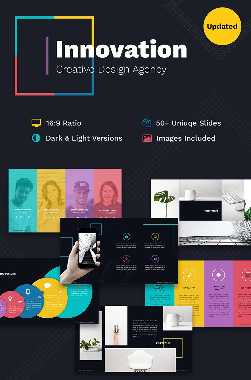 Creative Powerpoint Templates Free Innovation Creative Ppt for Design Agency Powerpoint
