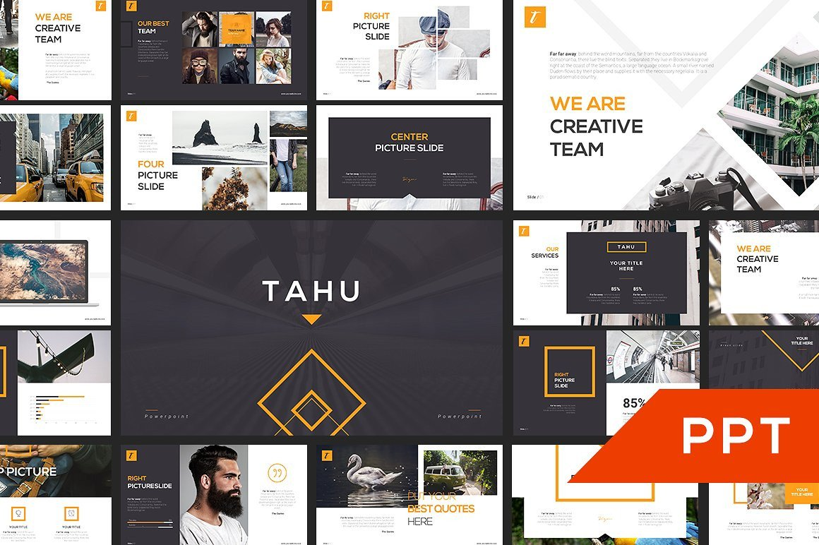 Creative Powerpoint Templates Free Tahu Powerpoint Template Template Train