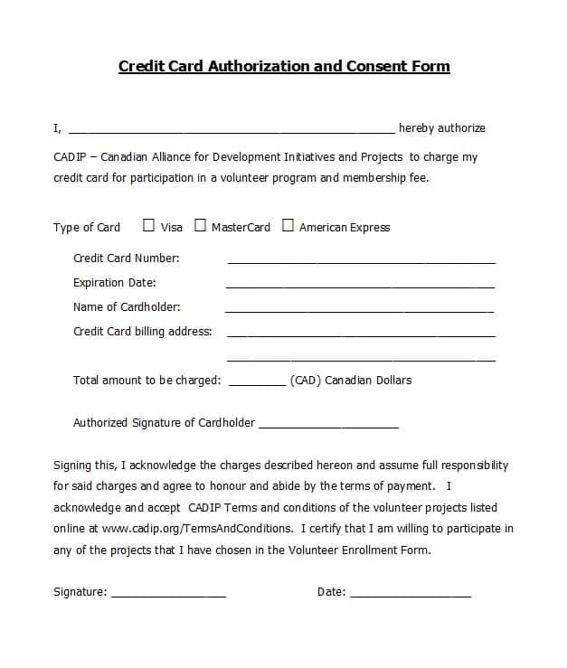 Credit Card Authorization Template 41 Credit Card Authorization forms Templates Ready to Use