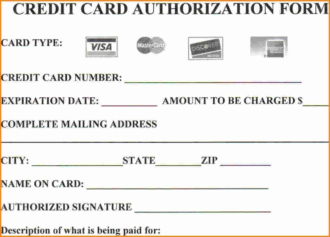 Credit Card form Template 25 Credit Card Authorization form Template Free Download