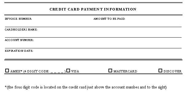 Credit Card form Template 5 Credit Card Authorization form Templates formats