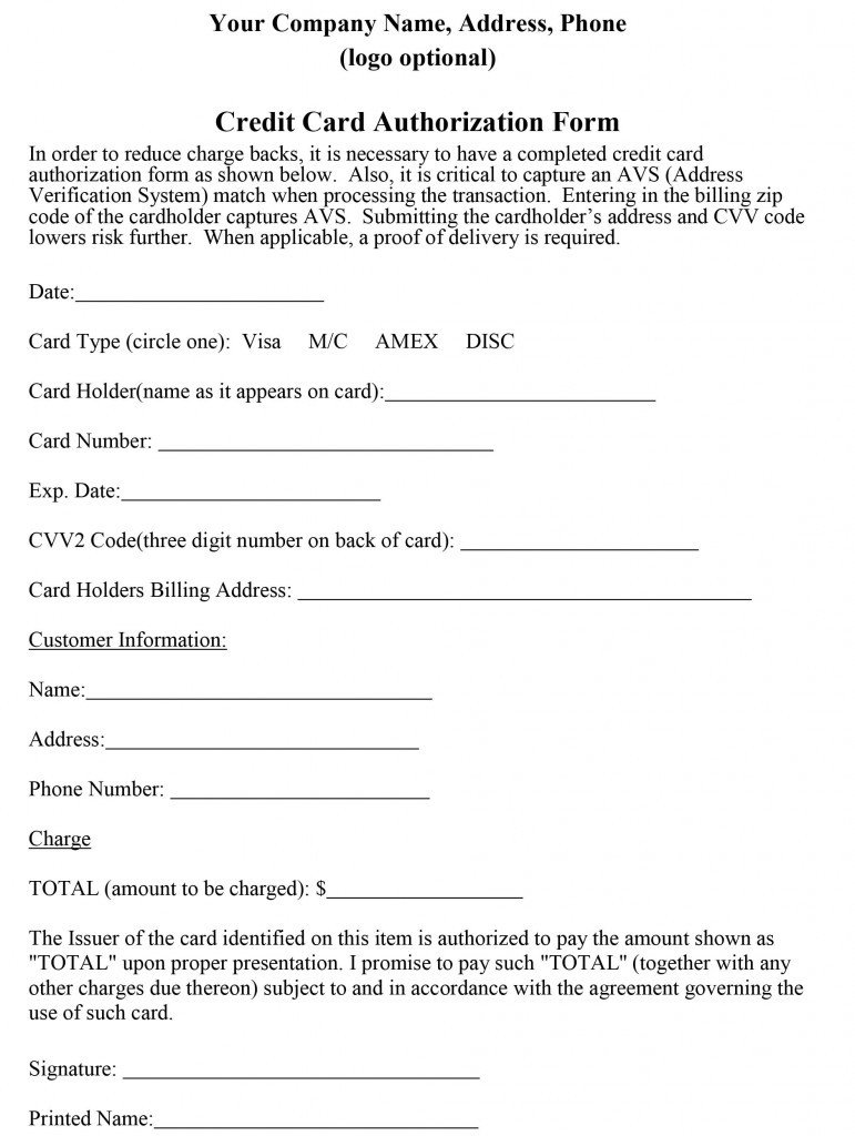 Credit Card form Template How to Properly Craft A Credit Card Authorization form