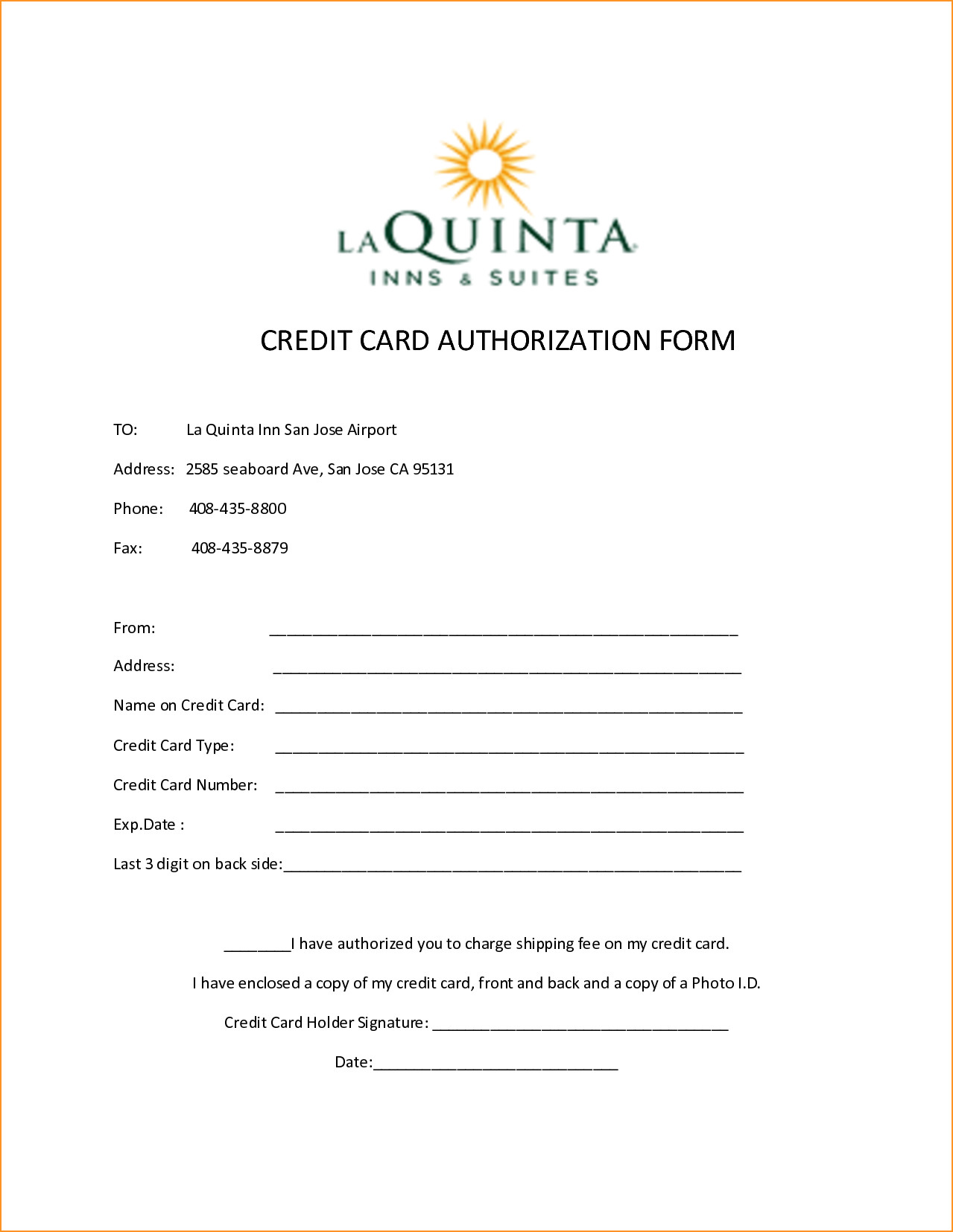 Credit Card Payment form Template 10 Credit Card Authorization form Template Free Download