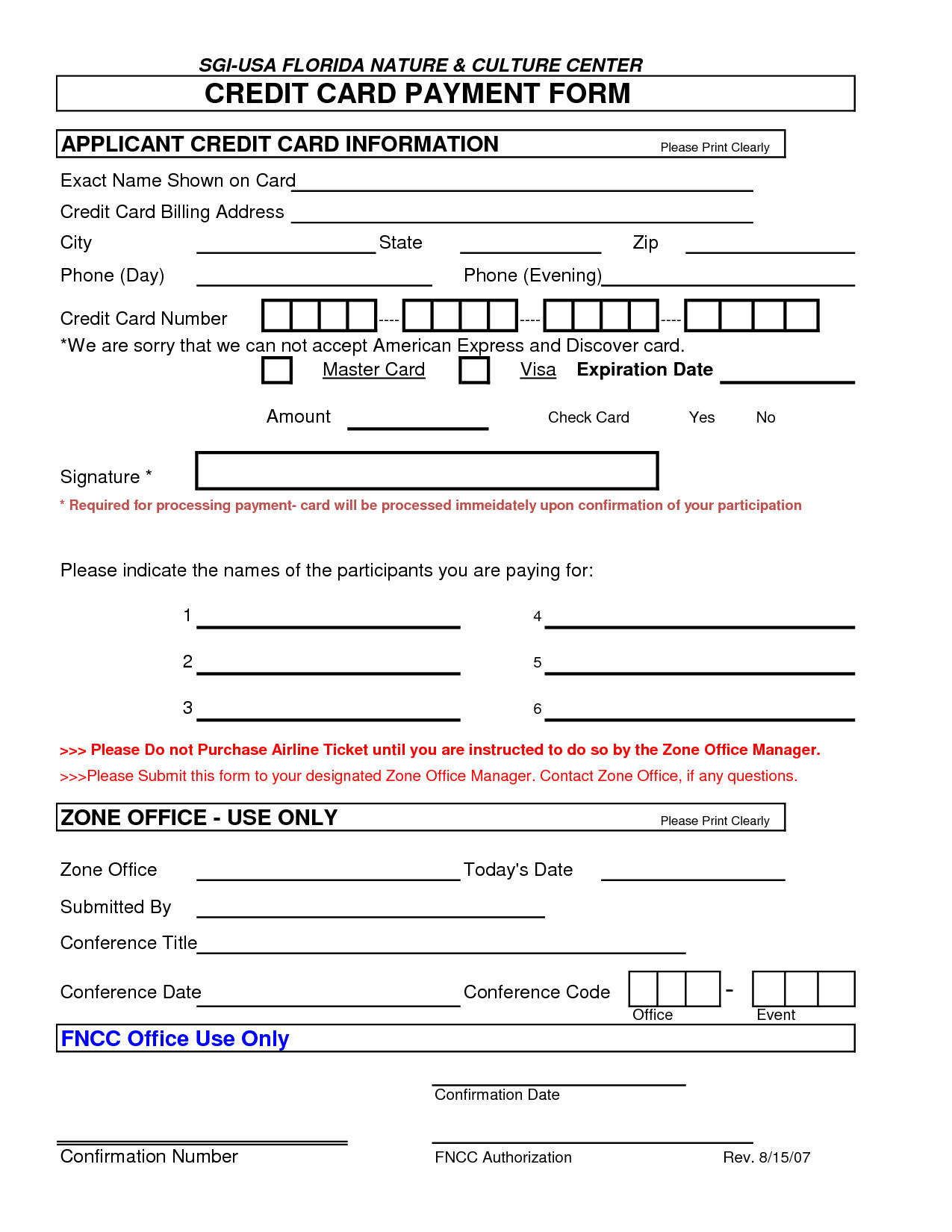 Credit Card Payment form Template 5 Credit Card Authorization form Templates formats