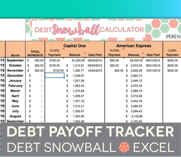 Credit Card Payoff Template This Debt Snowball Calculator Spreadsheet From Perennial