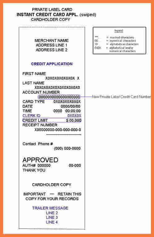 Credit Card Receipt Template 9 Credit Card Receipt