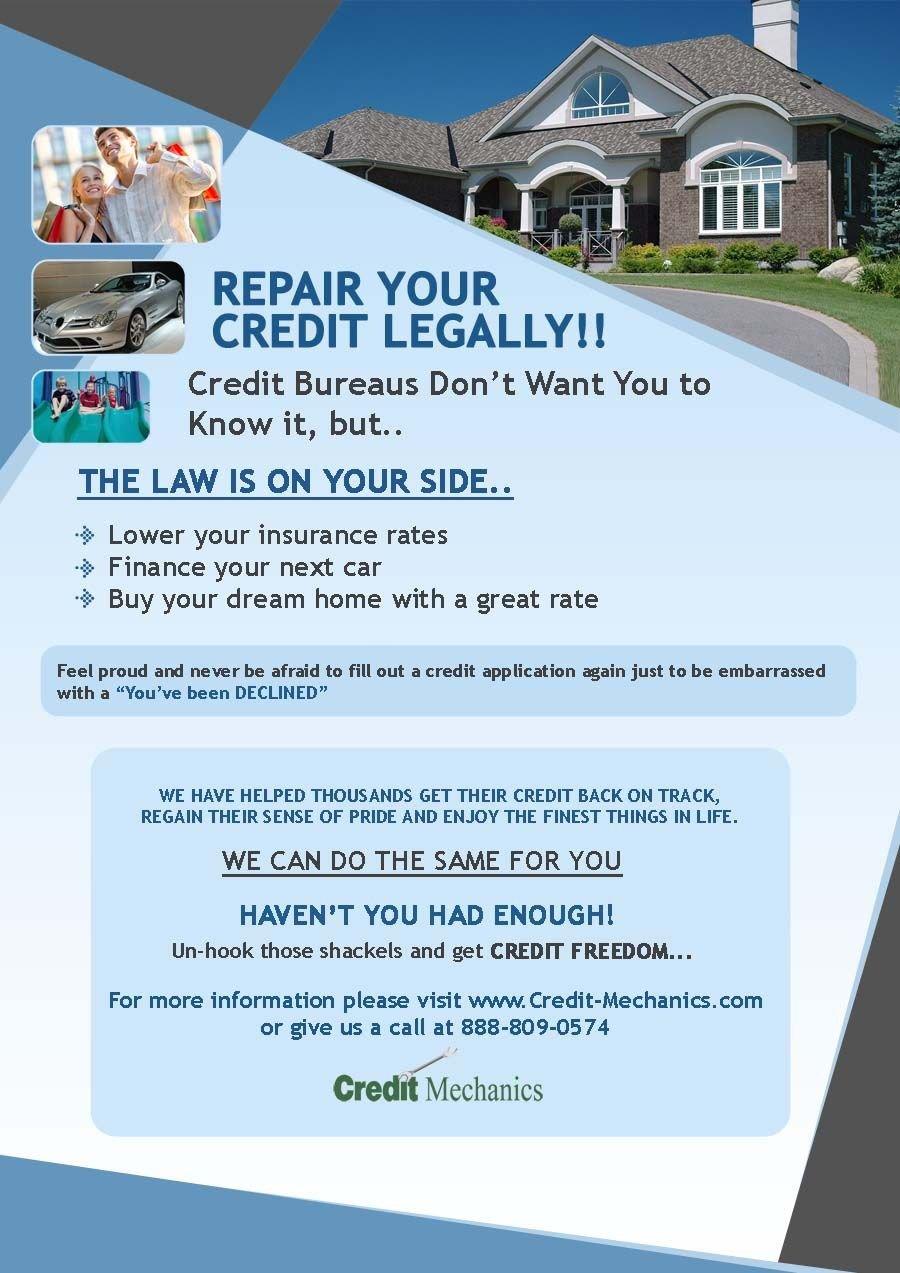 Credit Repair Flyer Template Credit Repair Flyers Credit Repair Secrets Exposed Here