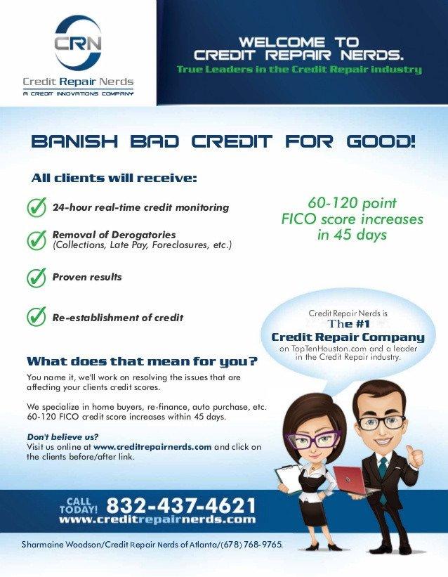 Credit Repair Flyer Template Credit Repair Nerds Of atlanta Flyer