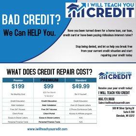 Credit Repair Flyer Template Customizable Design Templates for Credit