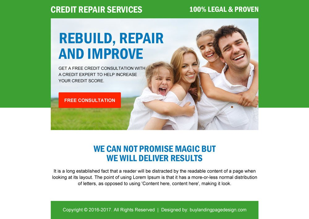 Credit Repair Flyer Template Discount On Ppv Landing Page Design Templates