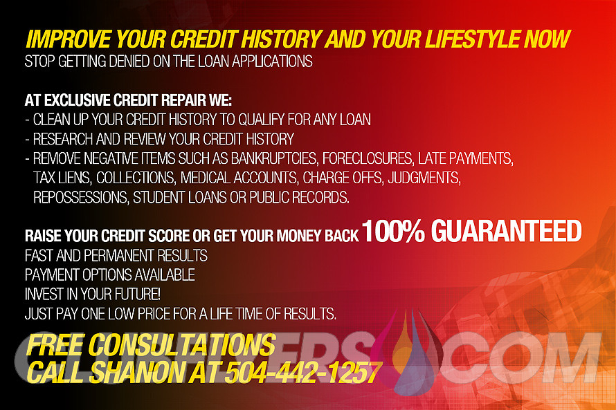 Credit Repair Flyer Template Exclusive Credit Repair