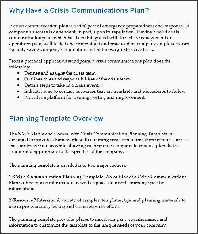 Crisis Communication Plan Templates 9 Editable Project Team Munication Planner Template