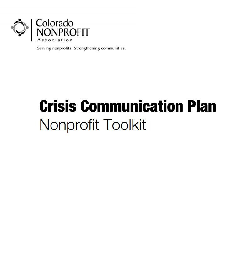 Crisis Communication Plan Templates Crisis Munication Plan Nonprofit toolkit