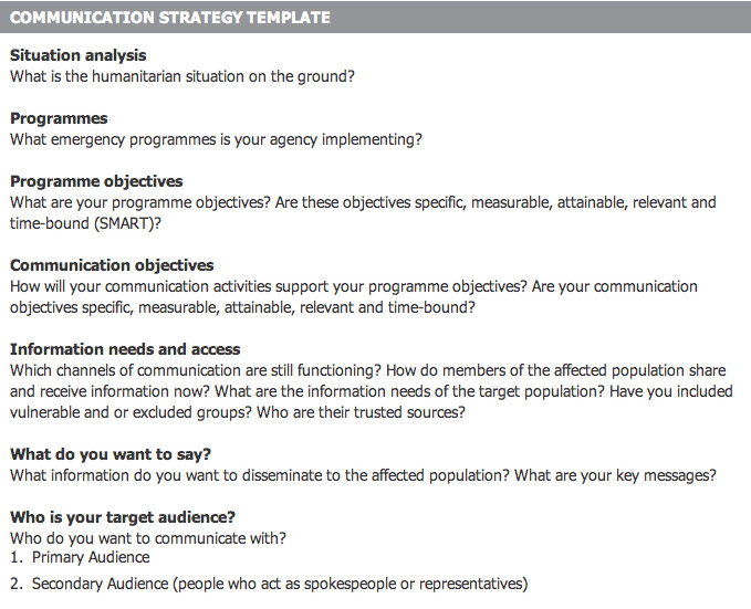 Crisis Communication Plan Templates towards the Design Of A Munication with Affected