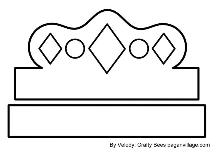 Crown Template for King Crown Pattern for Kids