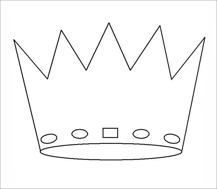 Crown Template for King Crown Template Free Templates