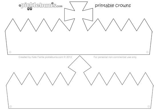 Crown Template for King Make A Crown Free Printable Crown Template Picklebums