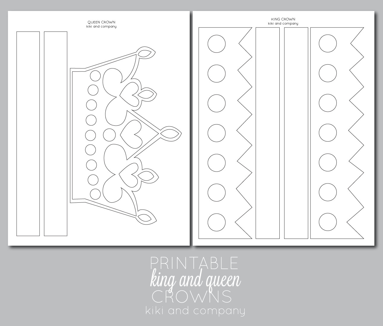 Crown Template for King Printable Kings and Queens Crown Free Printable the