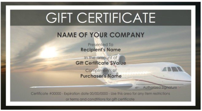 Cruise Gift Certificate Template 7 Free Sample Travel Gift Certificate Templates