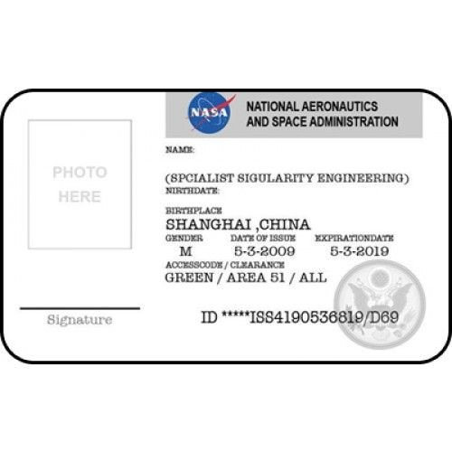 Csi Badge Template Nasa Id Card Badge National Aeronautics Space