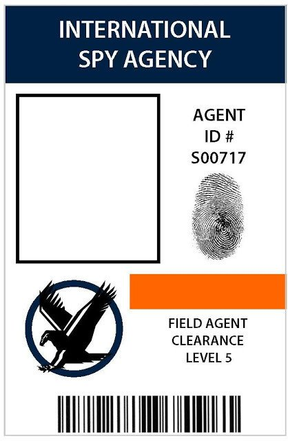 Csi Badge Template Take the Side Street Secret Agent Party
