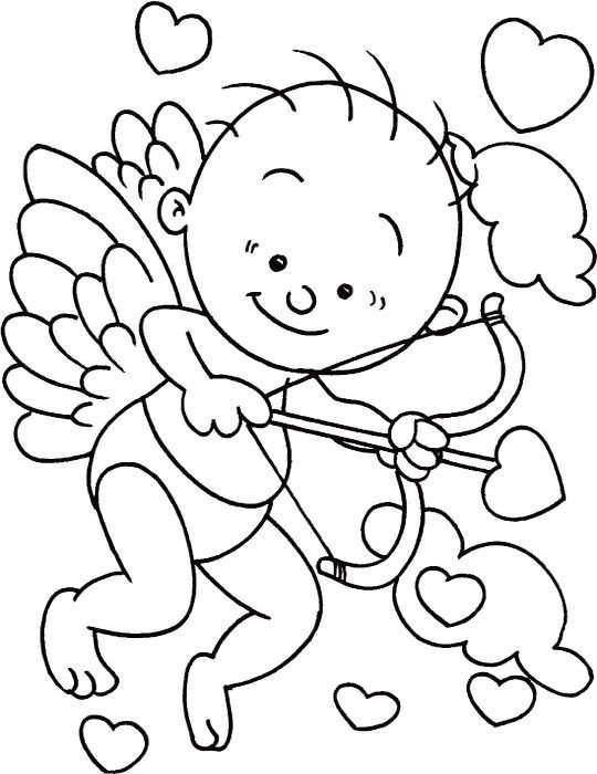 Cupid Template Printable C A Cupid Coloring Pages Coloring Pages