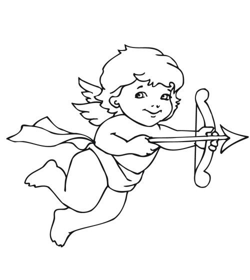 Cupid Template Printable Cupid Coloring Page