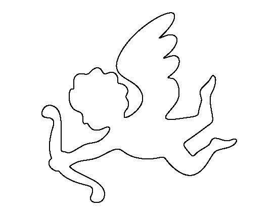 Cupid Template Printable Cupid Pattern Use the Printable Outline for Crafts