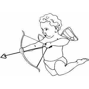 Cupid Template Printable Cupid Ready to Shoot Coloring Page