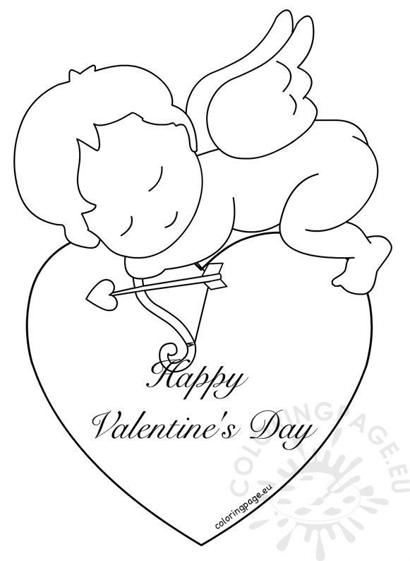 Cupid Template Printable Happy Valentines Day Cupid Pages Coloring Pages
