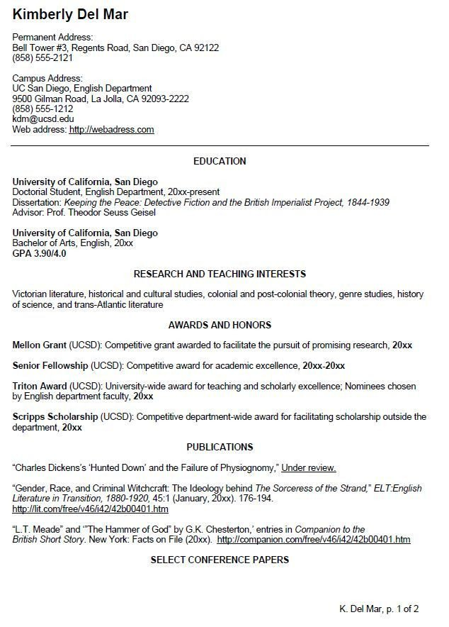 Curriculum Vitae Template Student English Cv Sample Writing Your Curriculum Vitae