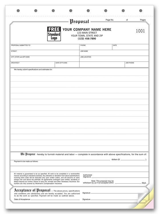 Customer Acceptance form Template Free Printable Proposal Sheet