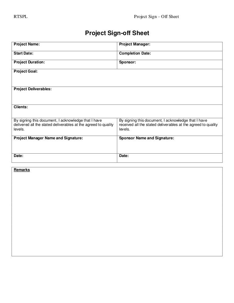 Customer Acceptance form Template Project Sign F Tempalte