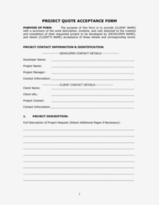 Customer Acceptance form Template Quotes Work order forms Quotesgram