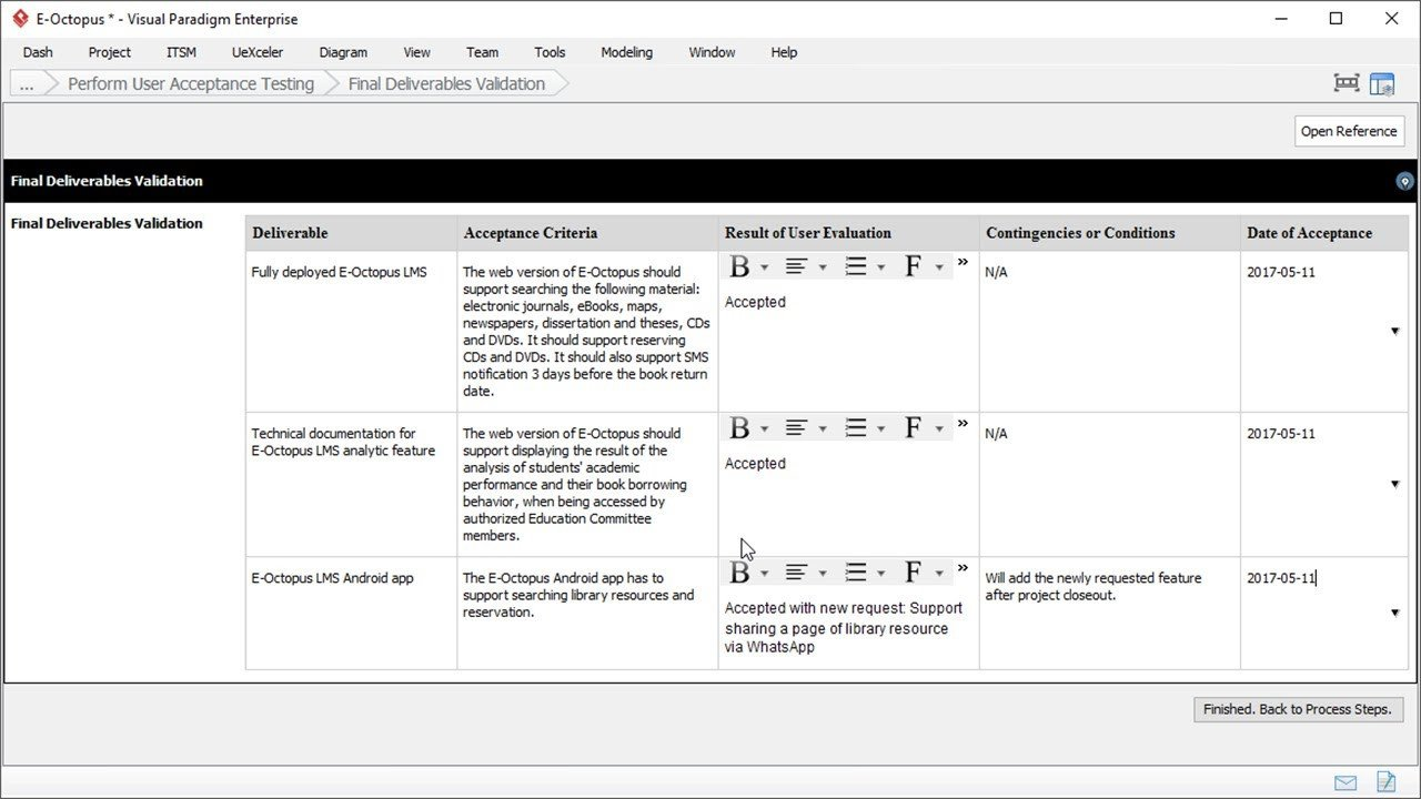 Customer Acceptance form Template User Acceptance Report Template Project Management