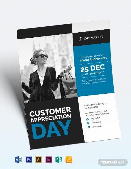 Customer Appreciation Flyer Template 16 Appreciation Flyer Designs & Templates Psd Ai
