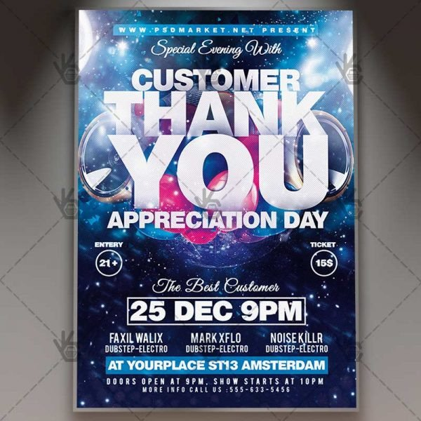 Customer Appreciation Flyer Template Appreciation Day Business Flyer Psd Template