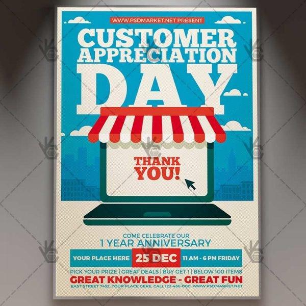 Customer Appreciation Flyer Template Customer Appreciation Day Business Flyer Psd Template