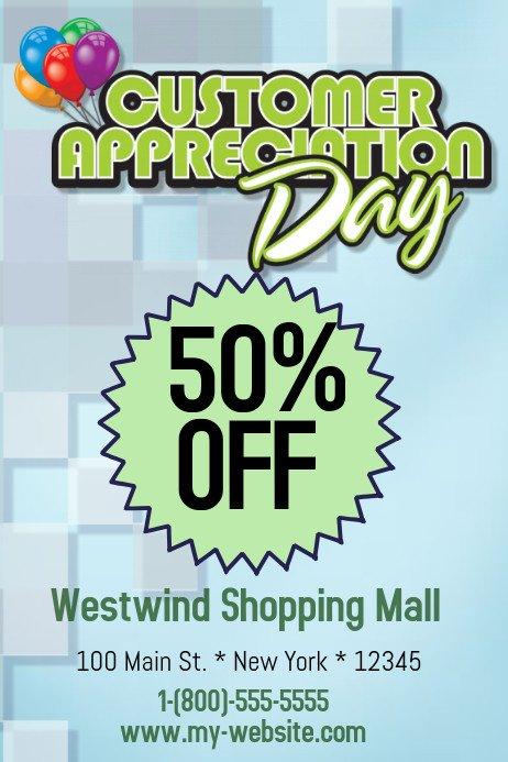 Customer Appreciation Flyer Template Customer Appreciation Day Flyer Template to Pin