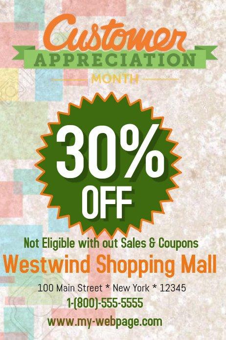 Customer Appreciation Flyer Template Customer Appreciation Template