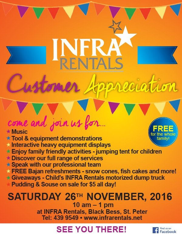 Customer Appreciation Flyer Template Infra Rentals Customer Appreciation Day