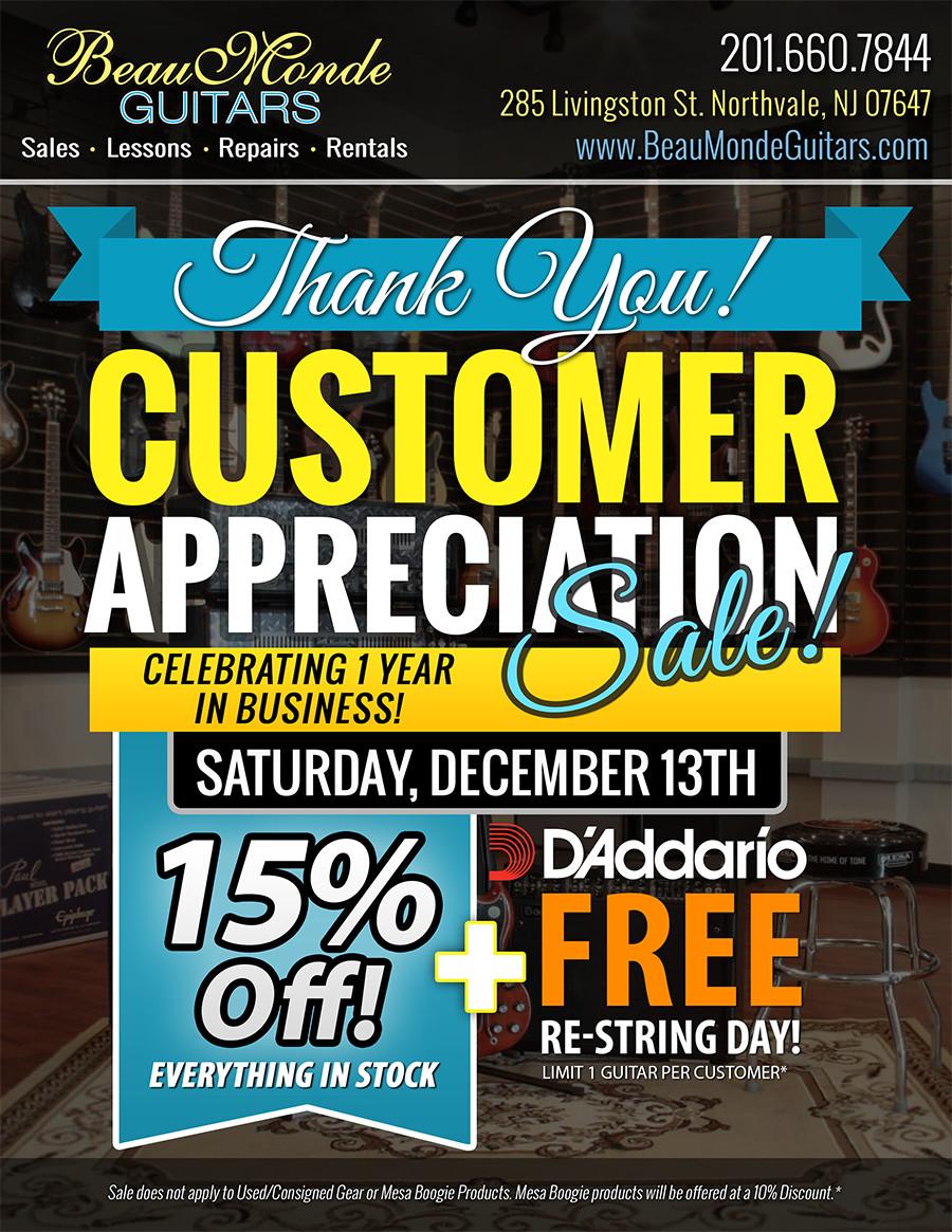 Customer Appreciation Flyer Template Print Work
