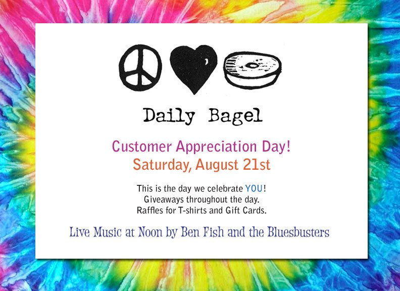 Customer Appreciation Flyer Template the Daily Bagel Join Us for Customer Appreciation Day