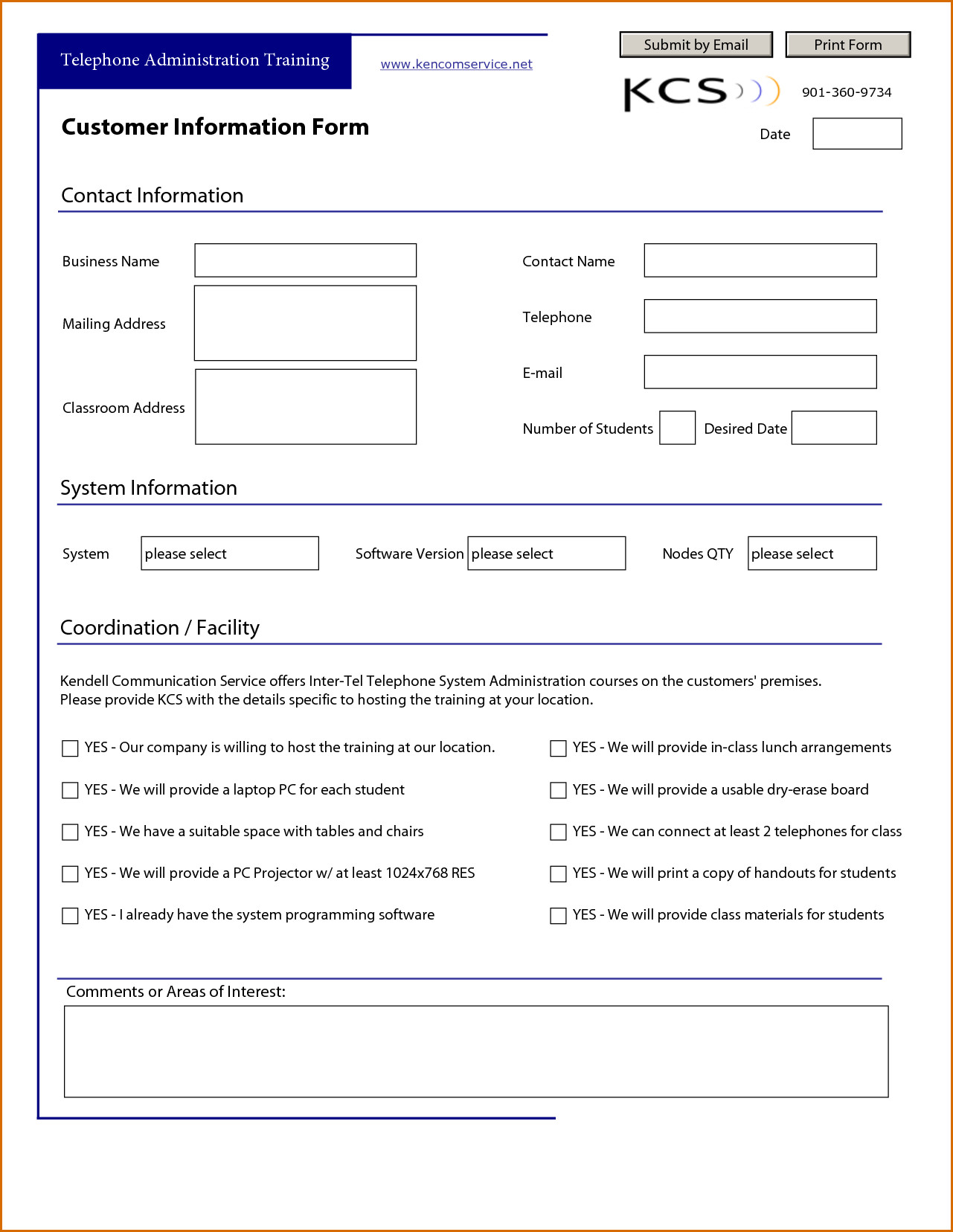 Customer Information form Template New Customer Information form Template New Customer