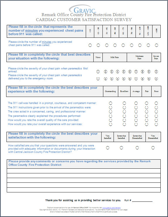 Customer Satisfaction Survey Template Word Cardiac Customer Satisfaction Survey · Remark software