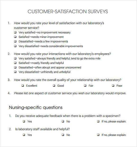 Customer Satisfaction Survey Template Word Customer Satisfaction Survey 14 Download Free Documents